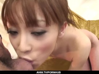 Miina Yoshihara endures endless inches of cock in her wet cunt