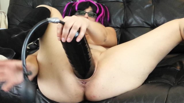 meaty pussy stretching with XXL inflatable dildo and buttplug 20