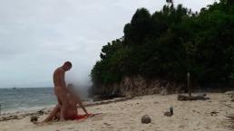 Hot sex on a hidden beach of small island!!!