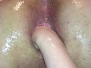 Mistress fisting male slave gaped