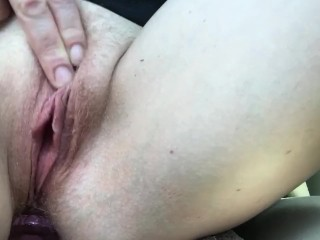 Driving masturbation too horny can't hold it