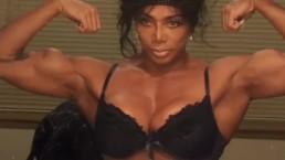 Female Bodybuilder Latia Flexes Huge Muscles @ clips4sale/studio/42900