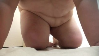 FTM Pussy Rub In Hotel Bathroom  pre op ftm transgender ftm transgender chubby fat trans belly bulge manpussy fat belly ftm porn ftm clit ftm bhm boypussy obese fat pussy