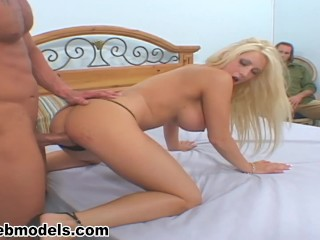 Huge Tits Cuckold Whore CANDY MANSON Fucked by Huge Cock Cum Load! A++