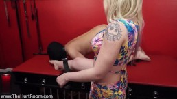 Leya Falcon Extreme Cock and Ball Torture inside The Hurt Room