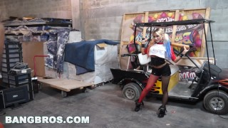 Marsha behind with jmac may the scenes bangbros and cosplay in petite the