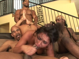 Chubby whore pawg charley chase gets bbc gangbang...