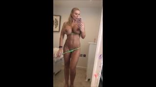 Sexy milf in bikini getting horny