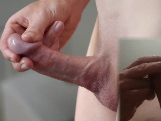 Glass - Thick cock teased