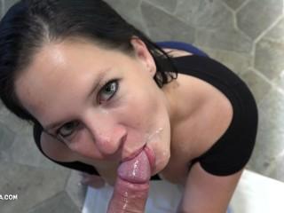 Unedited 4K – Passionate Intense POV Sucking – Amateur Oral Creampie