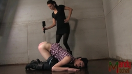 Princess Donna torments submissive tranny Mandy Mitchell