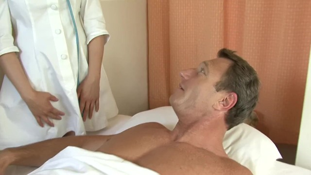 Asian Doctor Gets Stuffed With Two Big Dicks 10
