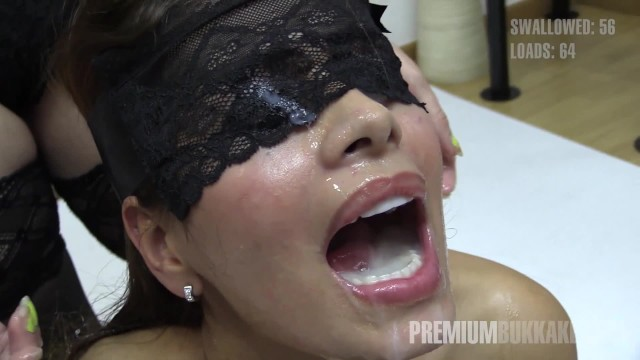 Premium Bukkake - Victoria swallows 81 huge mouthful cum loads 8