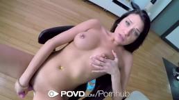 POVD Pierced nipple brunette Brooke Myers POV fuck
