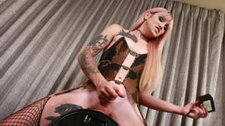 Shemale Star Lena Kelly Takes A Sybian Ride!