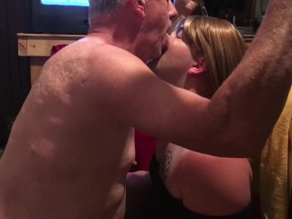 Sissy sucking cock and taking multiple loads to the face