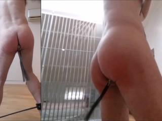 Full self plug spank flog fucked mouth...