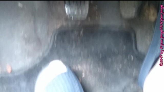 Badelatschen im Auto ** Nylon Feet ** 45