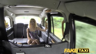 Preview 2 of Fake Taxi Thin petite blonde takes big dick