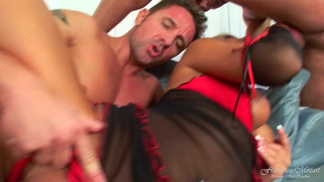 the Blonde Alishia take two hard dicks in her pussy and asshole 15