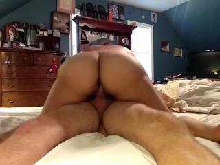 Homemade amateur riding dick then takes a facial