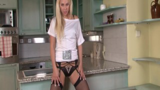 StockingVideos - Hot blonde in stockings