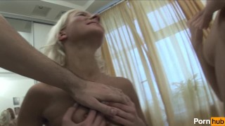 Preview 5 of Lucky guy fucks two Euro Hotties