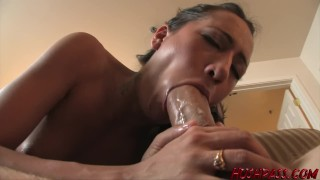Tiny 19 y.o. takes biggest white cock! Babe pussy