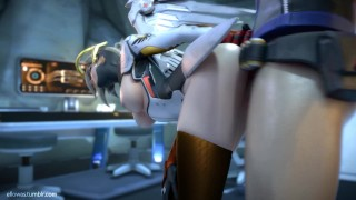 Mercy x Soldier 76 [ellowas]