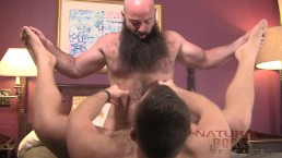 Hairy Hung Bearded Otter Flip Fuck with Hairy Young Bear