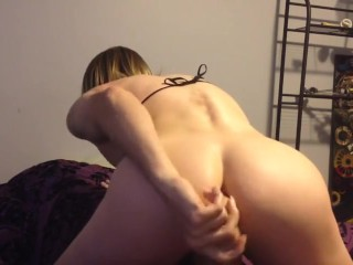 fucking my sissy ass with a dildo