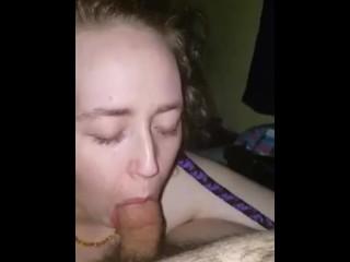 Deepthroating bondage slut