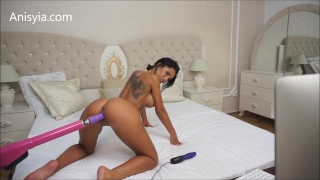 Anisyia Livejasmin hardcore machine fuck pussy stretching penetration Caressing solo
