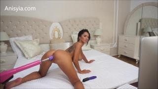 Anisyia Livejasmin hardcore machine fuck pussy stretching penetration Butt oil