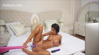 Anisyia Livejasmin hardcore machine fuck pussy stretching penetration Female bbc