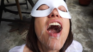 Morgan Piss Drinking and Cum Swallowing Outside!