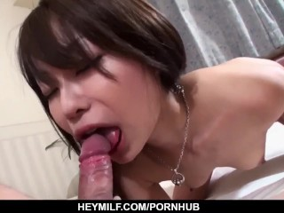 Yuri Aine likes holding the dick in each of her holes