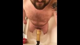 Fucking my Fleshlight in the shower