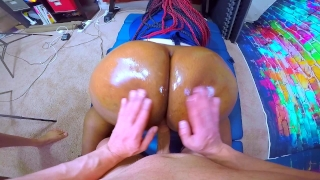 IMPREGNATE ME - Black Cop Whore Takes Intentional Jizz From HUGE White Cock Thiccivelvet oiled