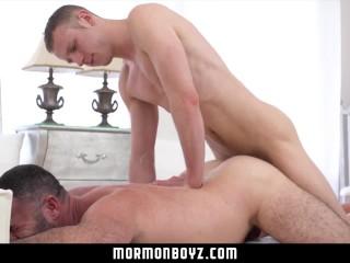 Mormonboyz - Cocky young stud fucks an older man raw