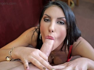 VRBANGERS-August Ames Give A World Class Blowjob!