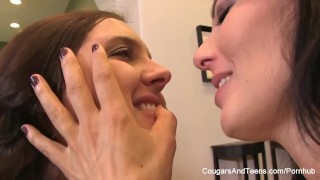 Naughty schoolgirl fucks her sexy MILF teacher