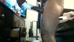penis pump play w/butt plug
