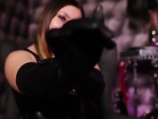 AvaGoddess - LiveJasmin - foot fetish latex gloves
