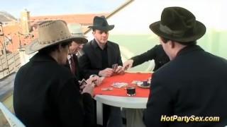 Bukkake orgy at our last poker game