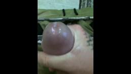 Tommy Banks stroking his huge dick til he cums