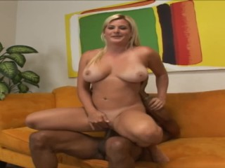 Petite Blonde Takes Monster Black Cock While Step Daughter Is At School