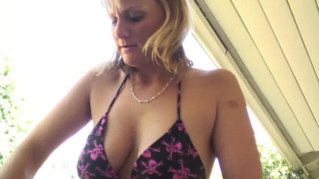 Uncut Blonde MILF With Huge Tits Fucks Her Daughters Boyfriend 19