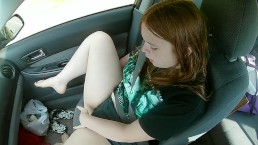 A Ride in the Car ~ Naughty Redhead Public Masturbation While He Drives