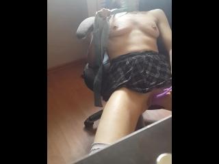 wife catching masturbation
